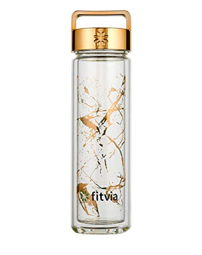 fitvia Gold Marble Thermo Bottle