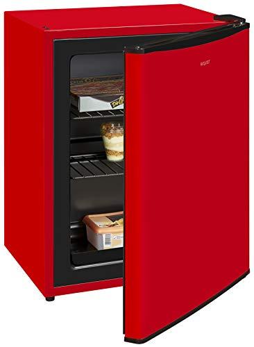 Exquisit Gefrierbox GB60-15A++ Rot | Mini-Gefrierschrank | 42 Liter | 62 cm Höhe | Temperaturregelung | Rot