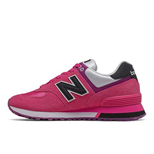 New Balance Damen 574v2 Sneaker, Pink (Pink Sav), 43 EU