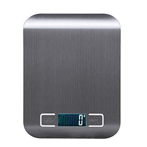Báscula Digital Cocina, Houzetek Balanza Cocina con Gran Pantalla LCD, Peso Cocina Digital Alimentos Precisión, Balanza de Alimentos Multifuncional, Peso de Cocina 1g(0,1 oz)-5kg
