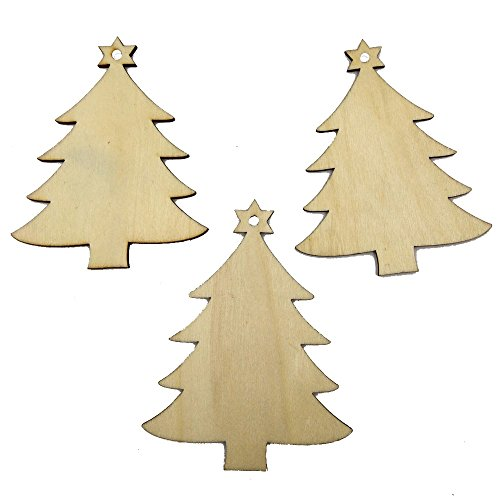 Why Choose ❤️Jonerytime❤️ Christmas Wood Chip Tree Ornaments Xmas Hanging Pendant Decoration...