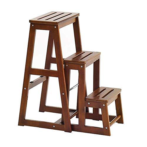 JIEER-C vrijetijdsstoelen massief houten ladder kruk demonteerbare multifunctionele rubberen houten ladder voor thuisgebruik gebruik duurzaam sterk 70cm