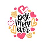 5 Ace Best mom New Wall Sticker Poster|Size:12x18 inch|Multicolor
