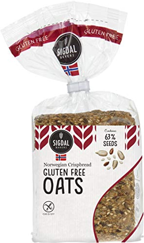 Sigdal Bakeri Gluten Free Oats Wholegrain Crispbread 8.29 oz Bags - Pack of 12