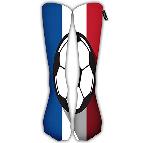 avbvoxy Custom Women'S Long Socks Football Icon with France Flag Girls Trendy Stocking