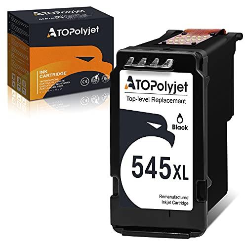 ATOPolyjet Remanufactured for PG 545 XL Cartucce Stampante PG-545XL 1 Pack per Pixma TS205 TS3150 TR4550 MG2550S MX495 TR4550 IP2850 MG2450 MG2550 MG3051 MG3052 TS3151 (1 Nero)