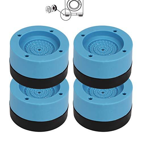 Mitening 4 amortiguadores de vibración, amortiguador universal de vibraciones, almohadilla de pies para lavadora y secadora, 4 cm (azul)