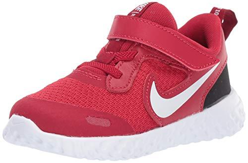 Nike Baby Revolution 5 Velcro Running Shoe, Gym Red/Whiteblack, 6C Regular US Toddler