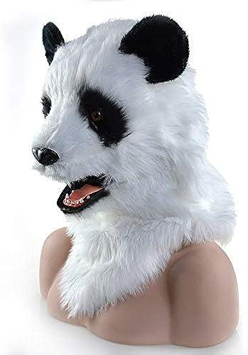 precios mas baratos WENQU Fiesta de Halloween Mover Boca Máscara de Panda Panda Panda Máscara de Criatura Máscara de fursuitas Máscara de Carnaval Panda (Color   blanco, Talla   25  25)  ahorra hasta un 30-50% de descuento