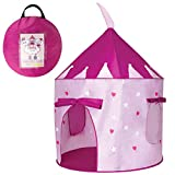 BLISS 'N' BOUNCE Kids Pop Up Play Tent For Indoor & Outdoor Use - Easily Set Up Or Take Down Our Foldable Kids Tent In Minutes - The Travel Bag Makes It Easy To Take Our Purple Kids Play Tent Anywhere