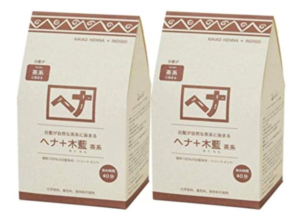 バー虎行方不明Naiad(ナイアード) ヘナ+木藍 茶系 400g 2個セット