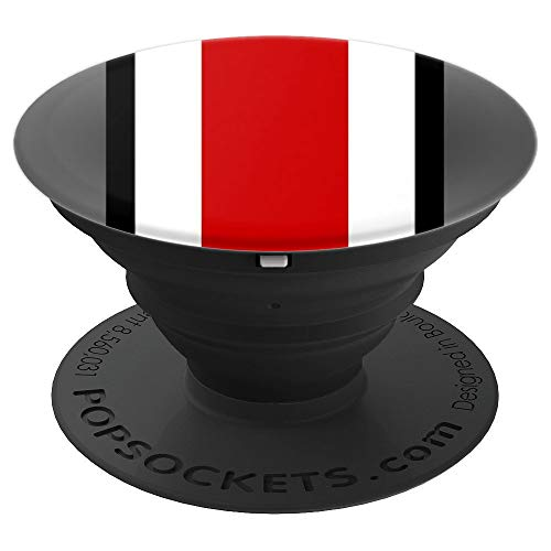 State of Ohio Ohioan Pride Striped Colors Graphic Design PopSockets Grip and Stand for Phones and Tablets