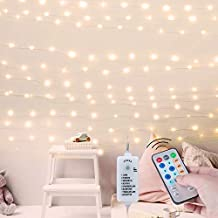 USB Fairy String Lights with Remote and Power Adapter, 66 Feet 200 Led Firefly Lights for Bedroom Wall Ceiling Christmas Tree Wreath Craft Wedding Party Decoration, Warm White