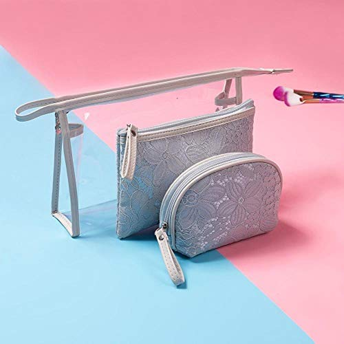 POMU Transparante vrouwen Cosmetische tas Set Waterdichte Draagbare Dames make-up tas 3 stks/set zak Toilettas