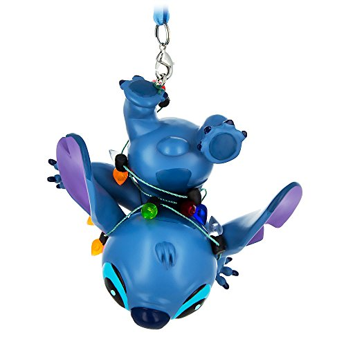 Disney Parks Stitch with Christmas Lights Figural Ornament