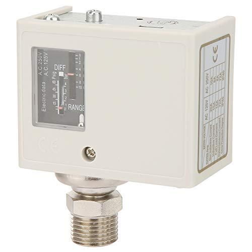 Weikeya Interruptor de Control de presión, con Acero Inoxidable, Hierro niquelado, Equipo de plástico Sensor de presión de Tornillo de Soporte de Alto y bajo Voltaje
