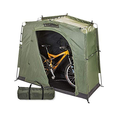Byjia Bike Storage Shed Tent, Storage Shelter with Window, Outdoor Garden Pool Storage, for 2 Adult Bicycles Or Motocycle