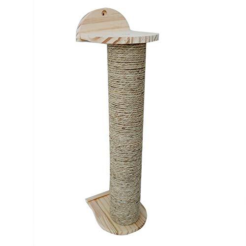 Heritan Montado en la pared tablero de rasguño juguete sisal escalada Marcos rascar árbol gatos protección muebles moler garras rascador juguete