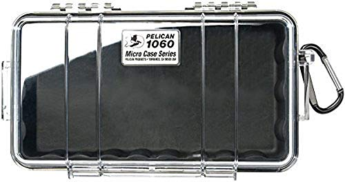 Pelican 1060 Micro Case - for iPhone, GoPro, Camera, and More (Black/Clear)