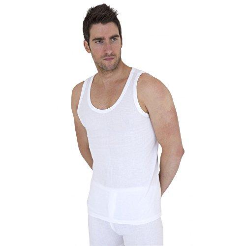 Textiles Universels Lot de 2 sous-vêtements Thermiques - Homme (Tour de Poitrine: (M) 91.5-96.5cm) (Blanc)