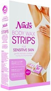 Nad's Pack di 28 strisce di cera depilatoria per pelli sensibili by NAD'S