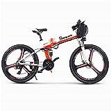 Bicicleta electrica Bicicletas eléctricas rápidas para adultos de 26 pulgadas 350W Montaña plegable de la nieve Ebike con aleación de aluminio super liviana 6 radios integrados de la rueda superior de