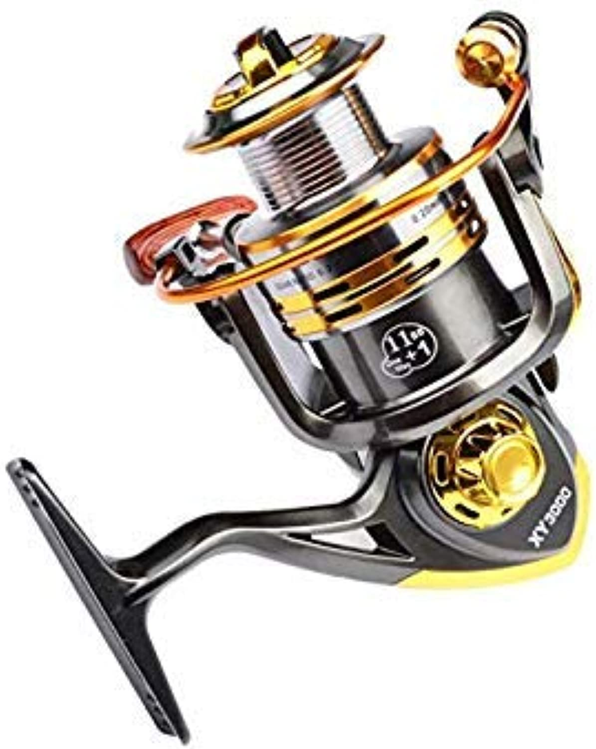 GEOPONICS Aluminum Alloy 12B Bearing Balls Spinning Fishing Reel 2000 3000 Series Spinning Reel Boat Rock Fishing Wheel color XY3000 Bearing Quantity 12 Spool Capacity Other