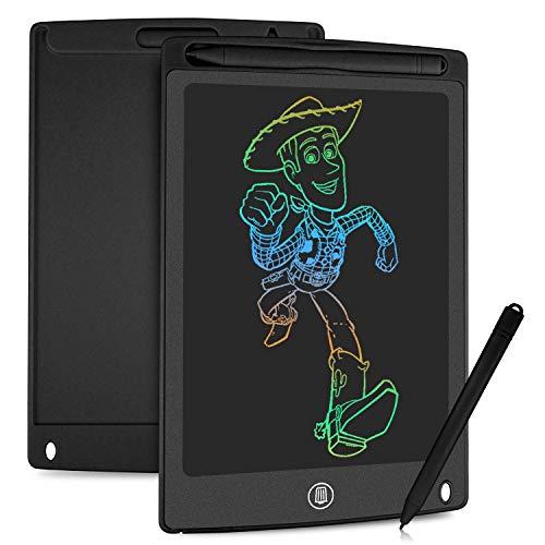 HOMESTEC Tavoletta Grafica LCD con Display Colorato 8,5 Pollici, Tavoletta Scrittura da Disegno Cancellabile con Scheda Elettronica con Pulsante Elimina e Interruttore di Blocco, Salva Carta (Nero)