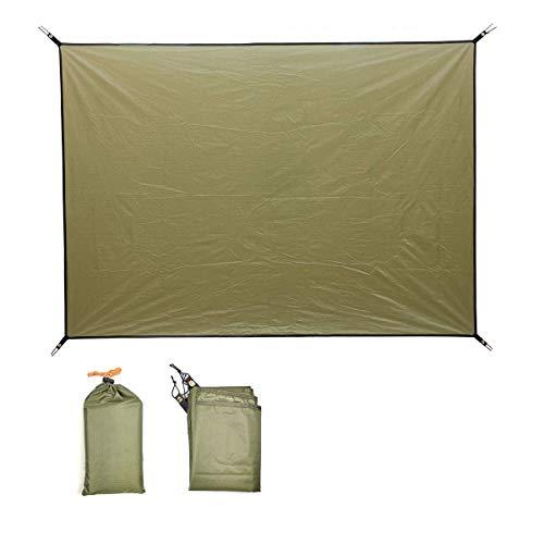 Norther30° テントマット ピクニックマット カーペット軽量防水、耐水圧3000mm 薄い 小さな収納スペース アウトドア、登山、ハイキング、キャンプ、ピクニック、花見などに最適です (緑, 150*200)