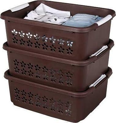 Nabhya Multi Storage Set of 4 Pieces Organizer Box Home Kitchen Storage Basket Stackable | Nestable- Combo Pack of 3