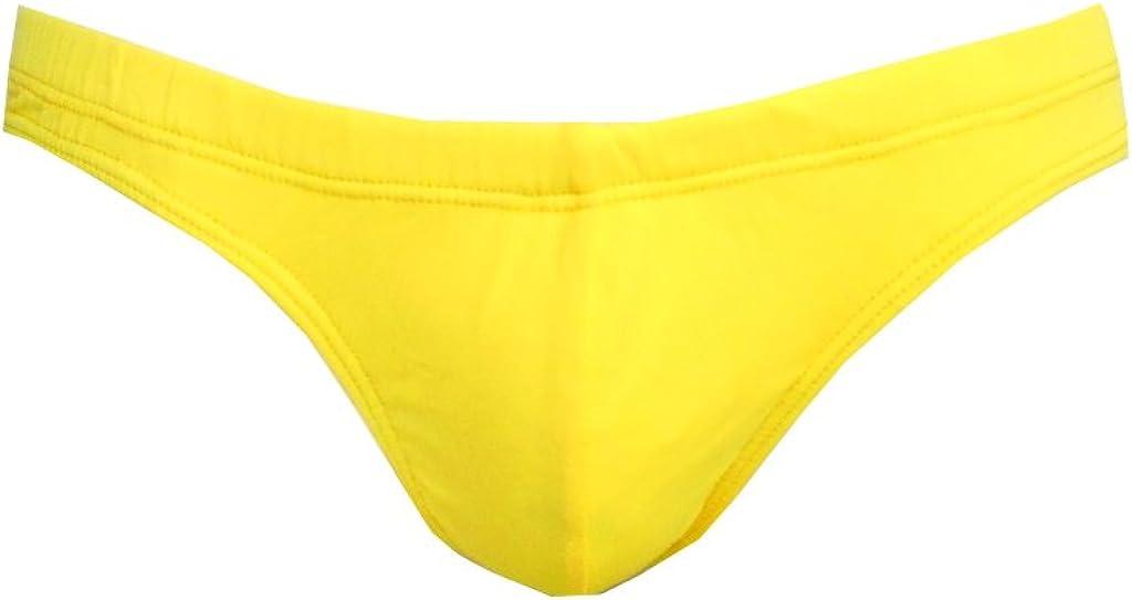 Mens Swim Thong Neon Yellow-LG