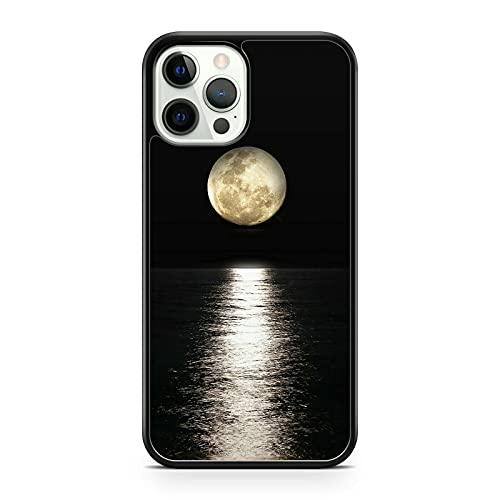 Elegante Colorido Extravagante Luna Llena Océano Agua Reflection Funda de Teléfono (Teléfono Modelo: Compatible Con Huawei P10 Ligero)