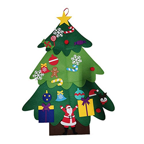 Huante Children DIY Felt Christmas Tree with Ornaments Children New One for Christmas Door Wall Decoration