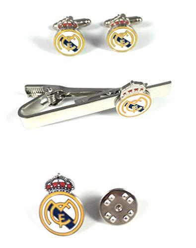 Pack Bandanstoss Krawatte, Pin und Manschettenknöpfe Real Madrid