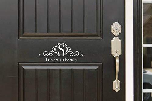76DinahJordan Aangepaste Monogram Initiële Deur decal Familie Naam Monogram Voordeur Ingang Decour Sticker Geweldig Gift Idee Home Decor