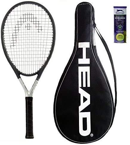HEAD Ti S6 Raqueta de tenis + 3 pelotas de tenis Slazenger...