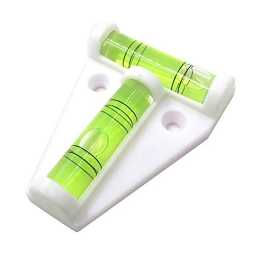 Monlladek T-Typ Wasserwaage, T-Typ Wasserwaage Kunststoffmessung Vertikaler und horizontaler Einsteller Anhänger Wohnmobil Bootszubehör Teile (Weiß)