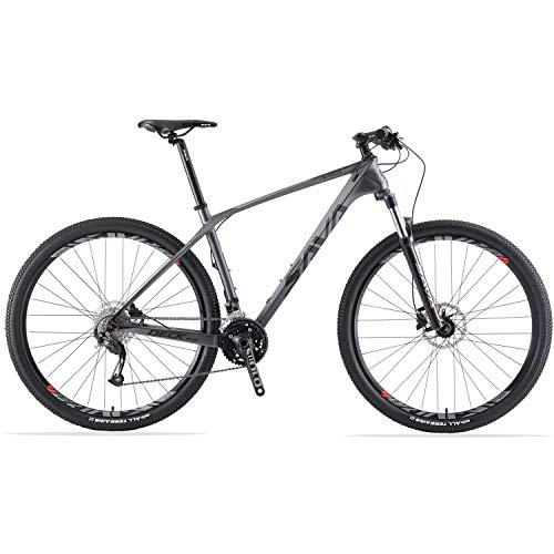 SAVADECK DECK2.0 Bicicleta de montaña de Carbono 26 '' / 27.5'/ 29' Bicicleta de montaña de Carrera XC MTB de Fibra de Carbono de Cola Dura Completa con 27 velocidades Shimano Altus M2000 GroupSet