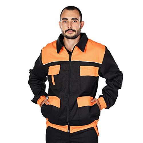 Mazalat Giubbotto da Lavoro Uomo, Giacca da Lavoro, Doppia Tasca per Attrezzi da Lavoro, Taglie Grandi Fino S-3XL, Giubbino da Lavoro Uomo. Abbigliamento da Lavoro, Work Jacket