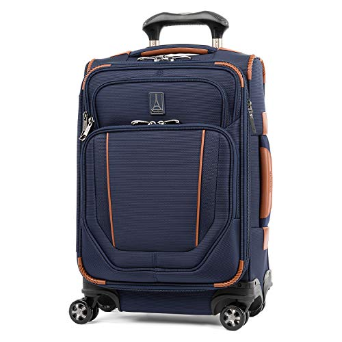 Travelpro Crew Versapack - Softside Expandable Spinner Wheel Luggage, Patriot Blue, Carry-On 20-Inch