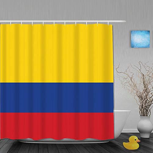 Marutuki Duschvorhang,Flagge Kolumbien Vektor Genaue Abmessungen Elemente,personalisierte Deko Badezimmer Vorhang,mit Haken,180 * 210