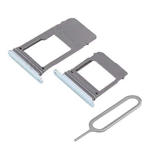 MMOBIEL SIM und SD Karte Tray Set 2 Schlitten kompatibel mit Samsung Galaxy A5 / A7 2017 (Blau) inkl. SIM Pin