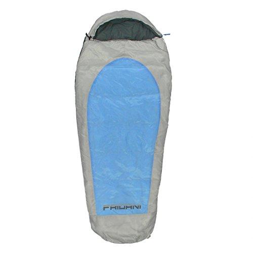 Fridani Kinderschlafsack EB 180x75cm XL Mumienschlafsack -11°C Blau warm wasserabweisend waschbar