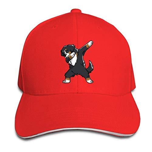 huatongxin Adult Swag Bernese Mountain Dog Cotton Lightweight Gorra de béisbol con Pico Ajustable Sandwich Hat Hombres Mujeres