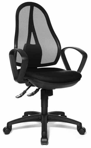 Topstar chaise de bureau open point sY aL.b2 b) noir
