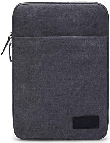 Kinmac 360 Degree Protective Grey Color Canvas Vertical Style Waterproof Laptop Sleeve with product image