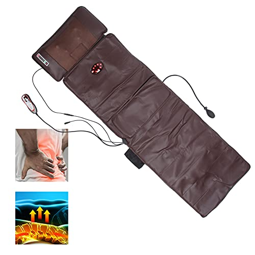 Colchoneta de masaje para uso doméstico, Masaje para amasar el cuello, Masaje de vibración corporal, Almohada lumbar con bolsa de gas, Almohadilla de masaje con vibración con calor, Cojín (EU)