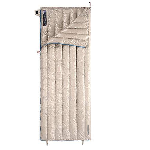 SSG Home Durable et Beau Sac de Couchage Camping Voyage en Plein air vers Le Bas Nylon Tissu épais Chaud Adulte Voyage intérieur Respirant Portable étanche Confortable et Portable (Color : B)