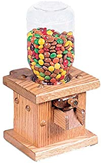 Wooden Candy Dispenser, Handmade Amish Antique Gumball Machine For Skittles, Reeses Pieces, Valentines, or M&Ms