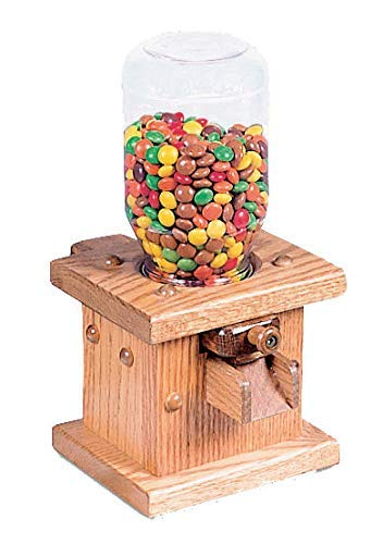 Wooden Candy Dispenser Handmade Amish Antique Gumball Machine For Skittles Reeses Pieces Valentines or MampMs